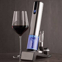 Electric Blue 1 Automatic Wine Opener & Preserver Set