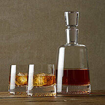 Diamond Whiskey Decanter & Glasses Set