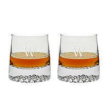 Personalized Diamond Whiskey Glasses (Set of 2)