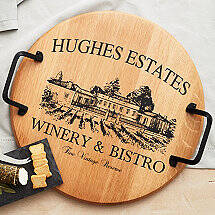 Personalized Estate Barrel Tray