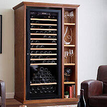 Custom Wine Cellar Cabinet With Shelves