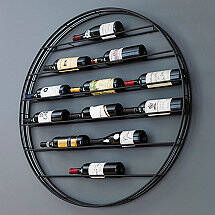 12-Bottle Label View Wall Wine Rack
