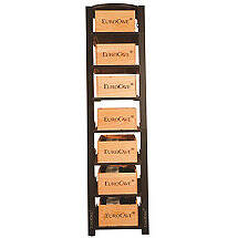 EuroCave Modulosteel 1 Column Wooden Box Sliding Shelf Wine Rack