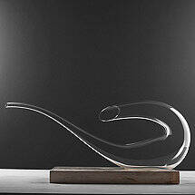 Wine Enthusiast Art Series Bass Decanter