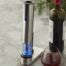 Electric Blue Automatic Wine Opener & Foil Cutter