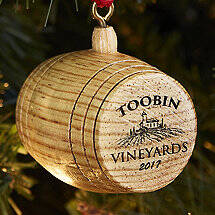 2017 Personalized Barrel Ornament