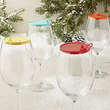 Indoor / Outdoor Cabernet / Merlot Wine Glass Lids (Set Of 4)