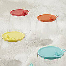 Indoor / Outdoor Wine Tumbler Lids (Set Of 4)