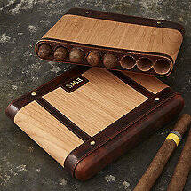 Wood And Leather Travel Humidor