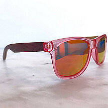 Wine Barrel Sunglasses (Rose Pink)