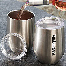 Wine Enthusiast Stainless Steel Insulated Tumblers (Set of 2)