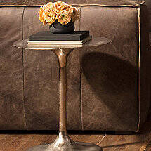 Umbria Raw Nickel Side Table