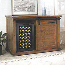 Mesa Sliding Barn Door Cabinet With Wine Refrigerator