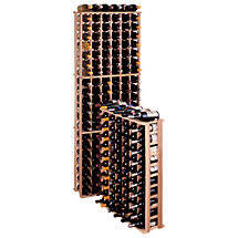 Redwood Modular Wine Rack Kit - 66 Bottle Reduced Height