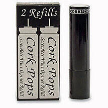 Cork Pops III Corkscrew Replacement Cartridges (Set of 2)