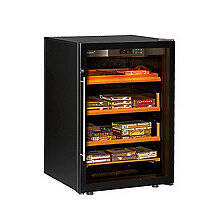 EuroCave Cigar Humidor (Black - Glass Door)